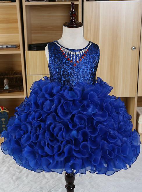 Girls Flower Beading dress Baby girls Tutu Lace princess wedding dress