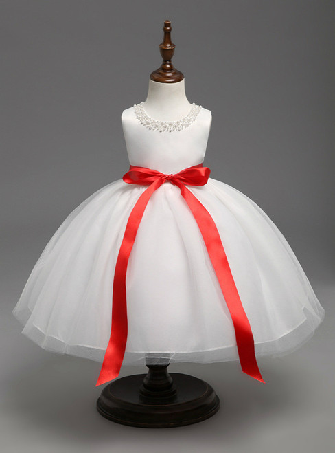 Birthday Outfits Little Bridesmaid Wedding Gown Kids Frock Designs Girls Christmas Dress