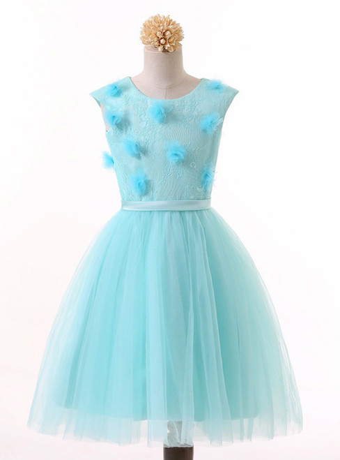 Children kids Lace Tulle Ball Gown Flower Girl Dresses for Weddings Evening Party