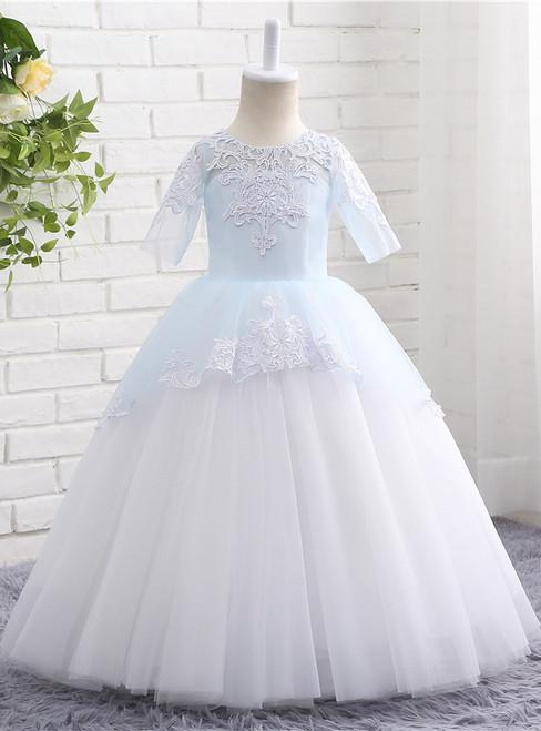 Lovely Flower Girl Dress High Quality Cute Lace Boho Kids Children Dress