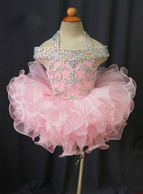 Girls Pageant Dresses 2017 Real Princess Crystals Organza Kids Prom Gown