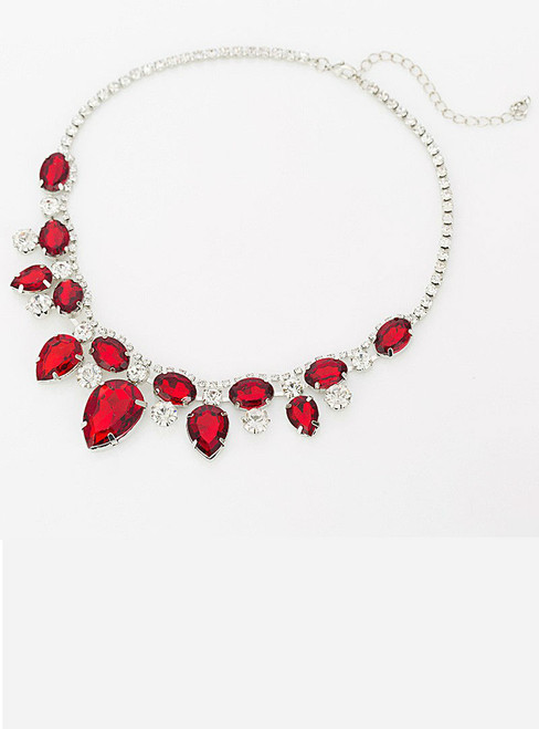 Necklace For Women Exquisite Rhinestone Pendant Necklace Fashion Collar Jewelry Red Carpet Necklace