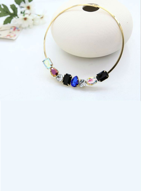 crystal character charm collar necklace for women ladies for party