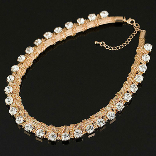 Choker Rhinestones Women Fashion Crystal Necklaces & Pendants Statement