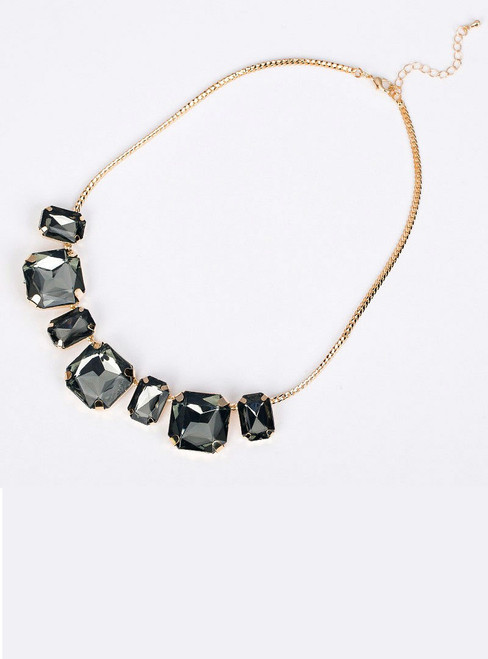 short design necklace gem fashion vintage crystal fashion necklace
