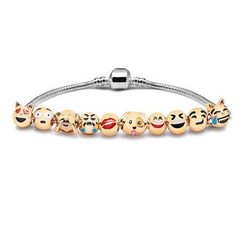 Gift Emoji Love Animals Charms Beads fits European Pan Bracelets