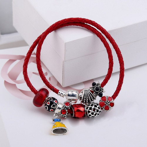 Women Bangles Snow White Dress Charms Bead Bracelet for Ladies