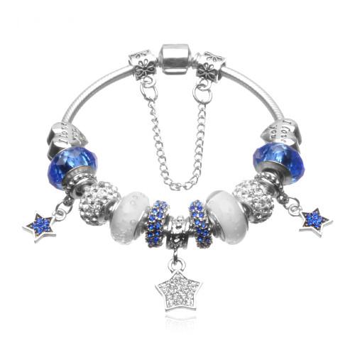 Star Charm Bracelets Bangles White Natural Stone Bracelet For Women Pulseiras