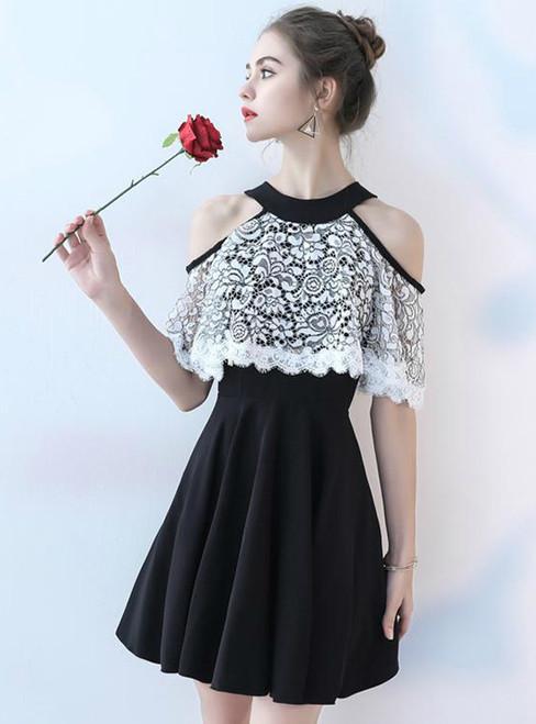 A-Line Lace Homecoming Dress Beautiful Junior School Dress