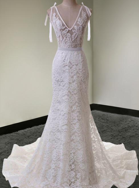 Mermaid Dress Lace Light Gauze Backless Wedding Gown