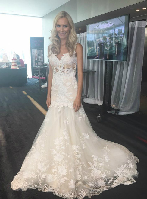 2018 Mermaid Long Lace Appliques Sweetheart Wedding Dress