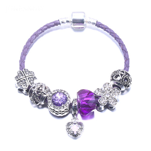 European Love Heart Charm Bracelet DIY Beads Fits Original Bracelets & bangles