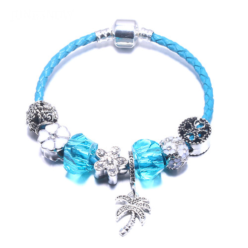 European Style Silver plated Coconut trees Bracelet for Women