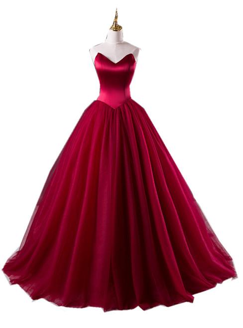 Burgundy Prom Dresses,Ball Gowns Prom Dresses