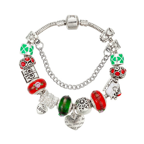 Christmas Gift European Charm Bracelets For Women 925 Silver Chain Bracelets & Bangles