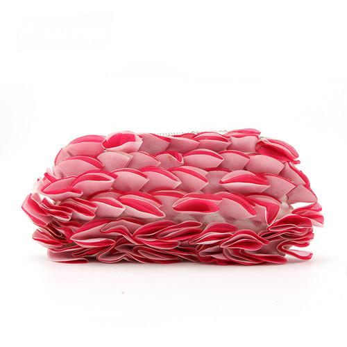 Solid three-dimensional flowers small bag bag wedding bride bag shoulder diagonal chain bag