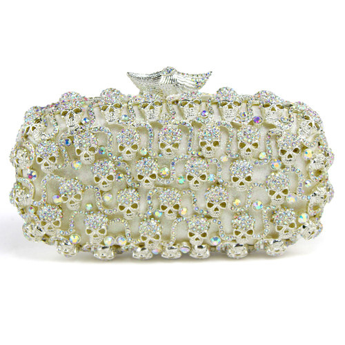 Diamond Dress hand Mini evening bag bag diamond Skull Party package