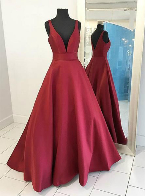 Formal Dresses,Burgundy Prom Dresses,Ball Gowns Evening Gowns