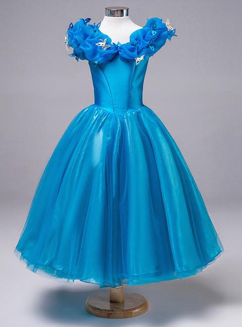 Princess Tutu skirt a Cinderella Blue Costume catwalk in autumn