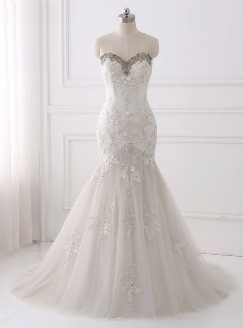 Sexy Illusion Wedding Dress 2018  A Line Bohemian Wedding Dresses Zipper Back