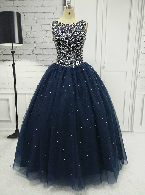 Ball Gown Formal Dresses With Jewel-embellished Bodice Long Elegant Prom Dresses