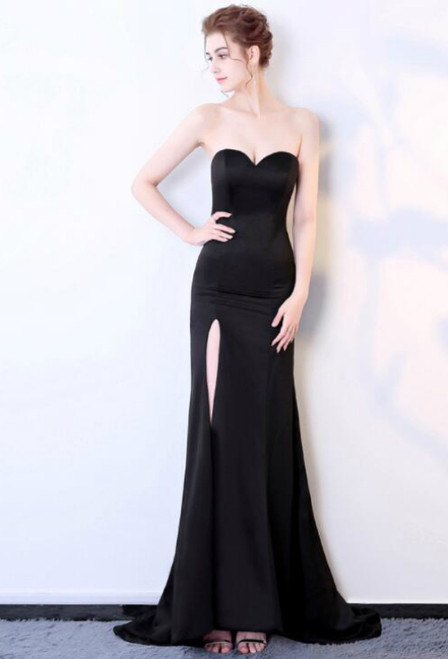 In Stock:Ship in 48 hours Mermaid Black Prom Dress