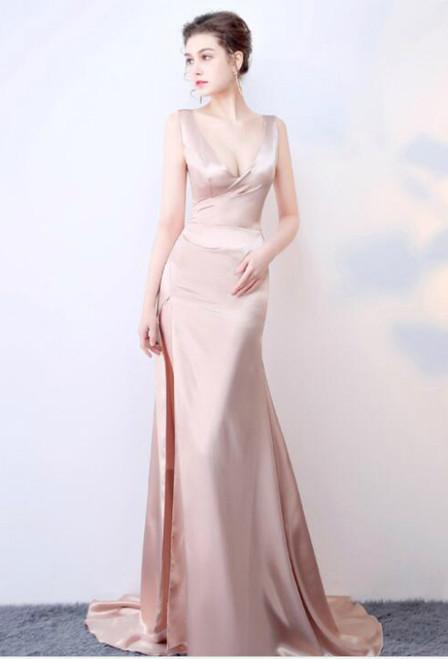 In Stock:Ship in 48 hours Mermaid V-neck  Prom Dress