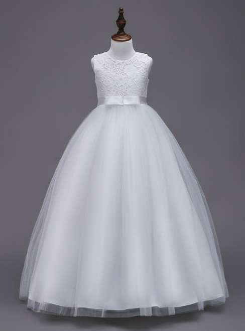 In Stock:Ship in 48 hours A-line White Big Girl Dress