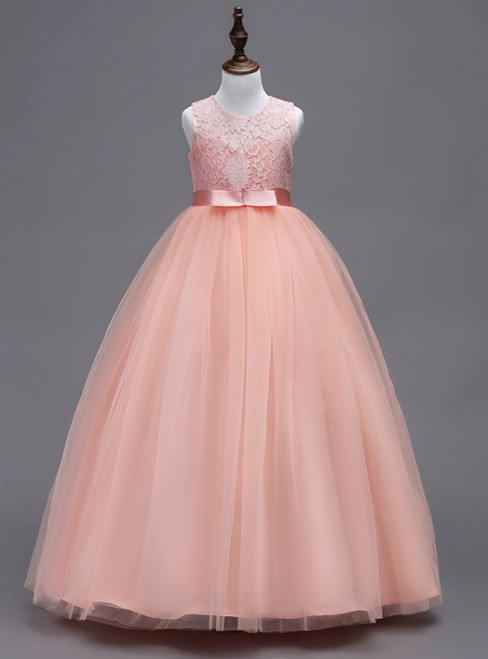 In Stock:Ship in 48 hours A-line Pink Big Girl Dress