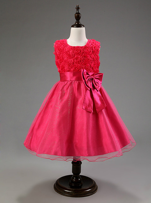In Stock:Ship in 48 hours Pink Bow Girl Dress