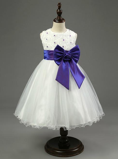 In Stock:Ship in 48 hours Organza White Girl Dress