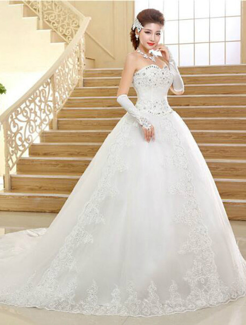 In Stock:Ship in 48 hours Ball Gown Lace Wedding Dress
