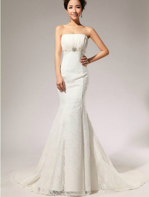 In Stock:Ship in 48 hours Mermaid Simple Wedding Dress