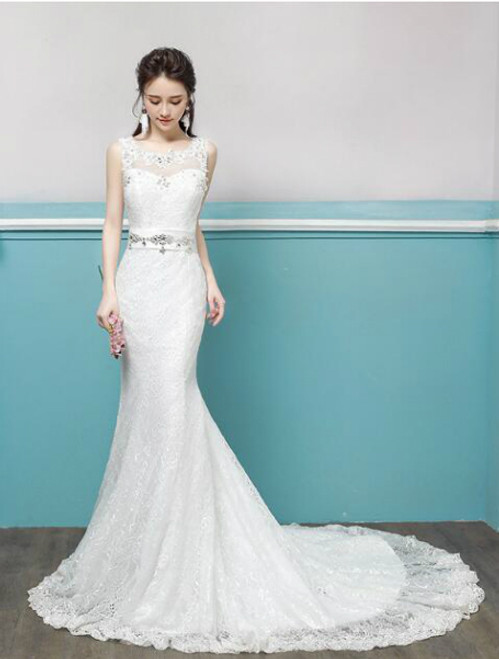 In Stock:Ship in 48 hours Mermaid Lace Wedding Dress