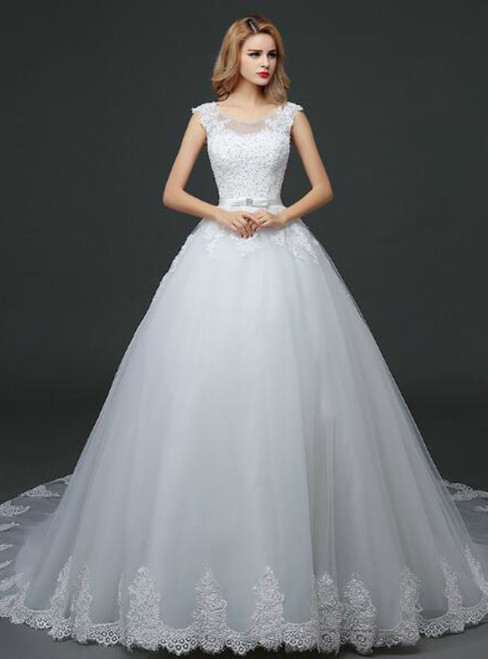 In Stock:Ship in 48 hours Ball Gown Tulle Wedding Dress
