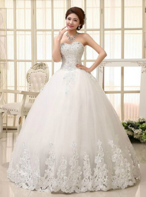 In Stock:Ship in 48 hours Sweetheart Tulle Wedding Dress