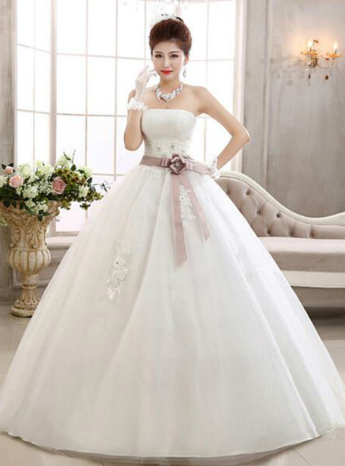 In Stock:Ship in 48 hours High Waist Pregnant Wedding Dress