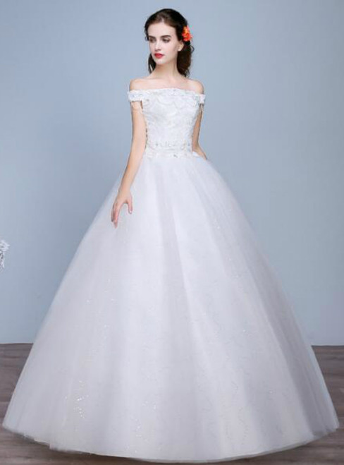 In Stock:Ship in 48 hours White Wedding Dress