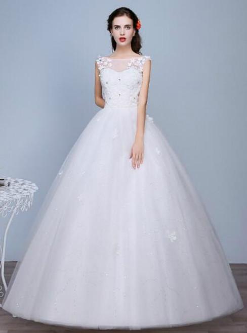 In Stock:Ship in 48 hours Bateau Wedding Dress