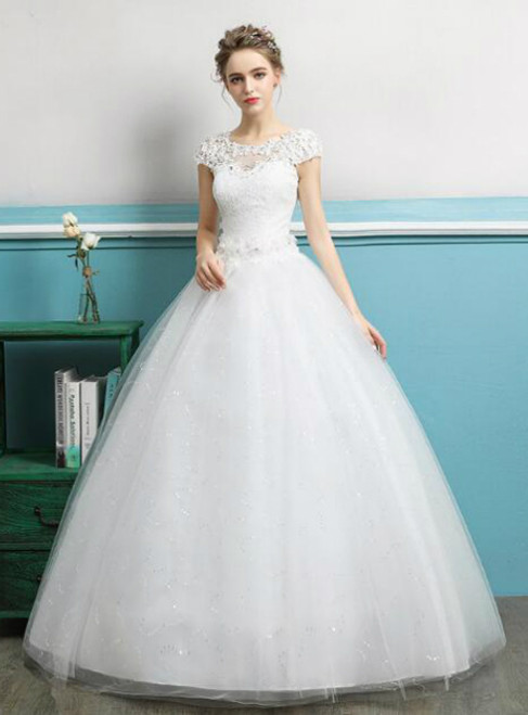 In Stock:Ship in 48 hours Ball Gown Open Back Wedding Dress