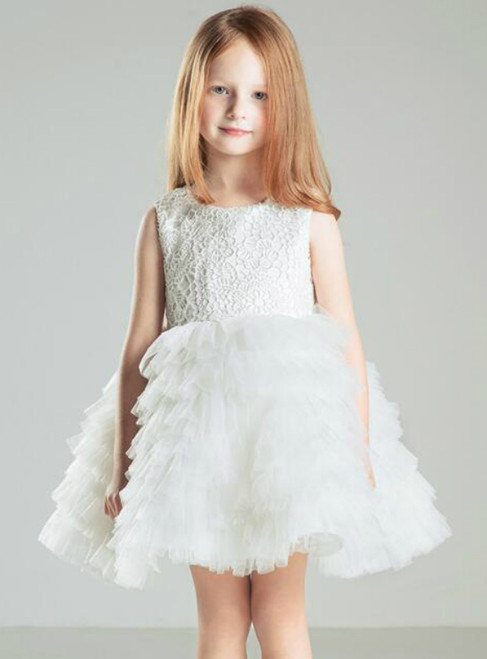 In Stock:Ship in 48 hours A-Line Tulle Flower Girl Dress