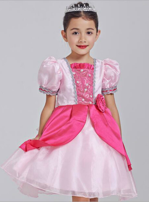 In Stock:Ship in 48 hours Pink Princess Flower Dress