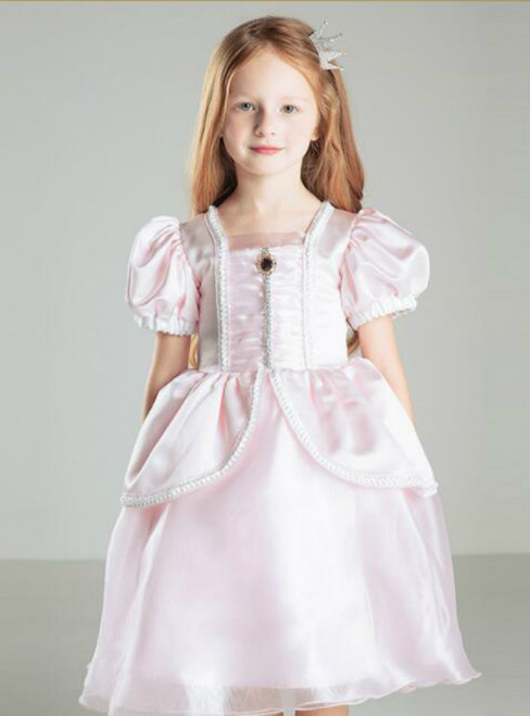 In Stock:Ship in 48 hours Pink Princess Girl Dress