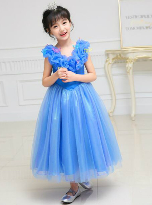 In Stock:Ship in 48 hours Blue Tulle Girl Dress