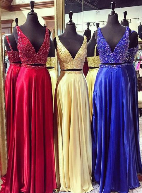Long Graduation Dresses,Satin Prom Dresses