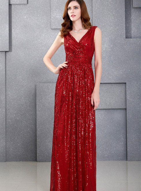In Stock:Ship in 48 hours Halter Sequins Prom Dress