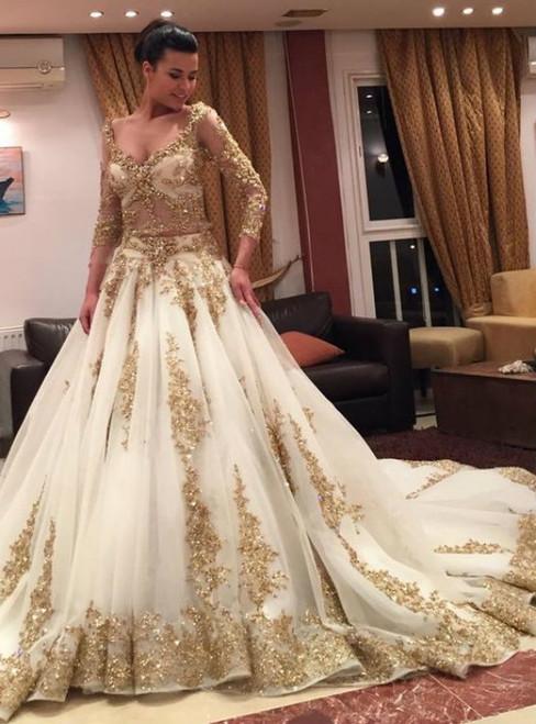 Arabic Style Wedding Dress,Wedding Dresses Long Sleeves