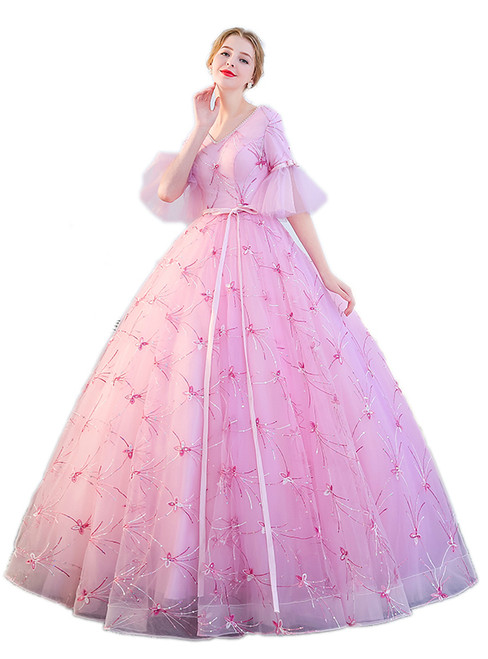In Stock:Ship in 48 hours Ready To Ship Pink Ball Gown Quinceanera Dresses