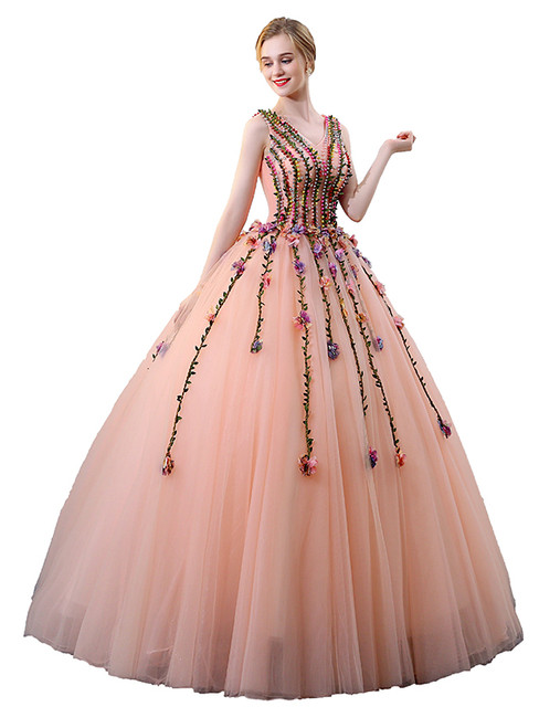 In Stock:Ship in 48 hours Ready To Ship Ball Gown Tulle Quinceanera Dresses