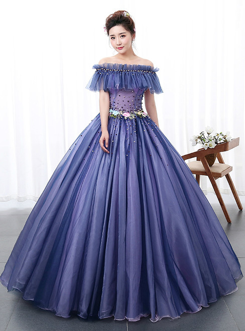 In Stock:Ship in 48 hours Ready To Ship Off The Shoulder Tulle Dress